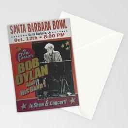 Vintage Bob Dylan Santa Barbara, California Concert Poster Limited Edition Originally 1 of 200 Stationery Cards