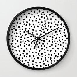 Modern Polka Dot Hand Painted Pattern Wall Clock
