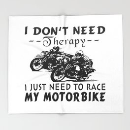 RACE MY MOTORBIKE Throw Blanket