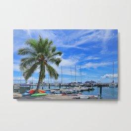 Paradise Harbor Metal Print