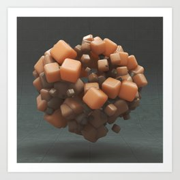20160218 | NOTHING BUT CUBES  Art Print