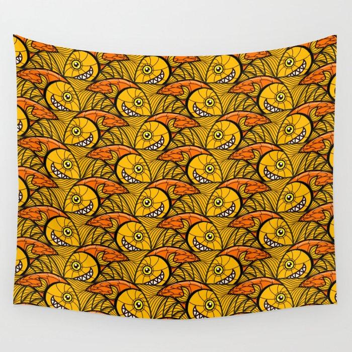Escher Fish Pattern VI Wall Tapestry