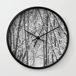 Woodland snow Wall Clock