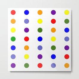 Rainbow Polka Dots Metal Print