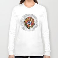 calendar Long Sleeve T-shirts featuring MAYA CALENDAR by Dario Calabria