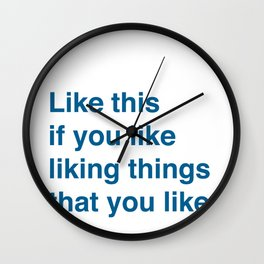 Like This Wall Clock