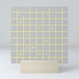 happy yellow graph Mini Art Print