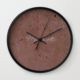 Merlot Wine Red Travertine - Rustic - Rustic Glam Wall Clock