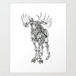 Motor Moose Art Print