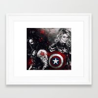 stucky Framed Art Prints featuring Can You Love Me Again by Monika Gross