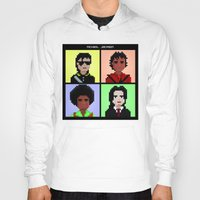 michael jackson Hoodies featuring Michael Jackson History  by Pixel Faces
