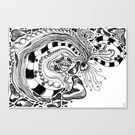 sensory zen tangle Canvas Print