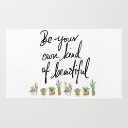 Be you own kind of beautiful pillow Rug