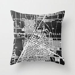 Vintage Las Vegas Throw Pillow