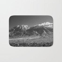 City of Arequipa in Peru with its iconic volcano Chachani Bath Mat