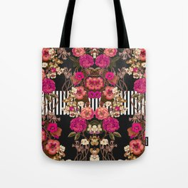 Floral Crossing Tote Bag
