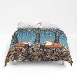 starlit foxes Comforters
