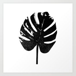 Monstera Leaf Silhouette Art Print Art Print