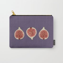 Three Figs Fruits Design - violet Carry-All Pouch