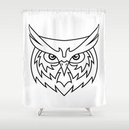 Wisdom - B&W Shower Curtain
