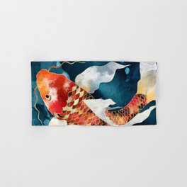 Metallic Koi II Hand & Bath Towel