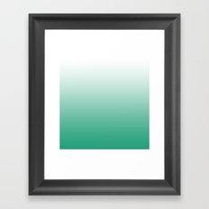 Emerald City Gradient Framed Art Print