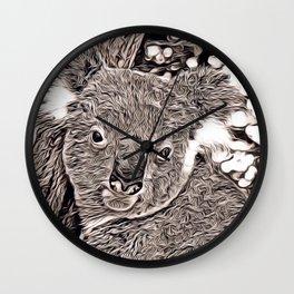 Rustic Style - Koala Wall Clock