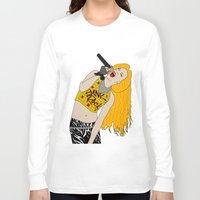 hedwig Long Sleeve T-shirts featuring Hedwig Singing by byebyesally
