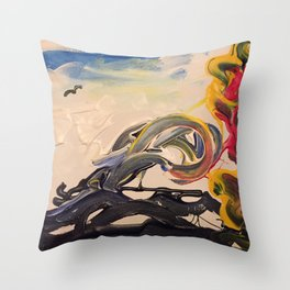 Waves of chaos Throw Pillow