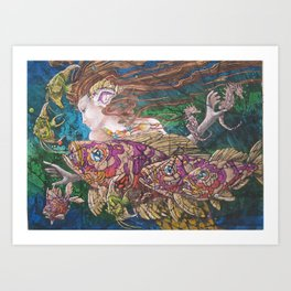 Mermaid's Realm Art Print