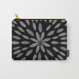 Mandala Flower #2 #silver #drawing #decor #art #society6 Carry-All Pouch