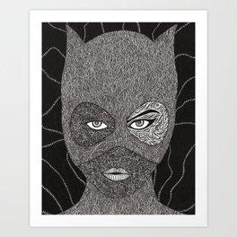 CATWOMAN Art Print