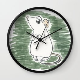 Squeak, the Tiny Inktober Mouse Wall Clock