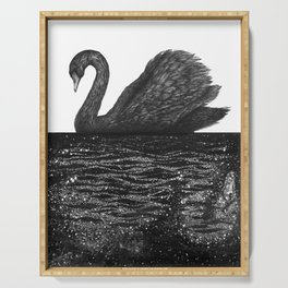 The Other Side: Black Swan Serving Tray