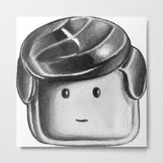 Minifigure Head Metal Print