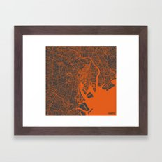 Tokyo Map #2 Framed Art Print