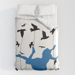 Falling Into Blue Comforters