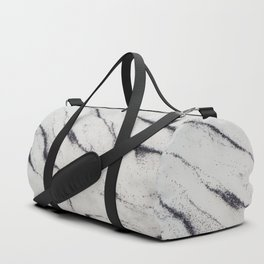 Marble Black Glitter Glam #1 #shiny #gem #decor #art #society6 Duffle Bag