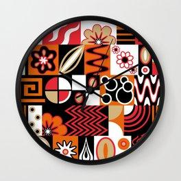 Retro Potpourri Wall Clock