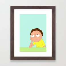 Morty Framed Art Print