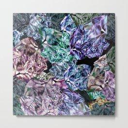 Precious Crystal Growth Metal Print