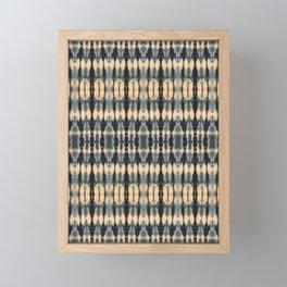 Deep Indigo Shibori Framed Mini Art Print