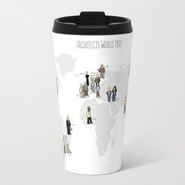 Architects world map Travel Mug