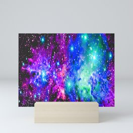 Fox Fur Nebula Galaxy Pink Purple Blue Mini Art Print