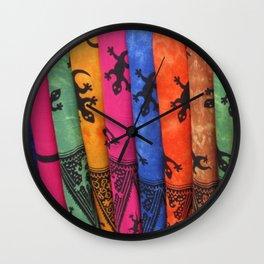 Balinese Batik Wall Clock
