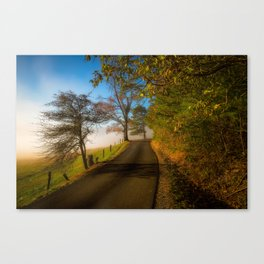Smoky Morning - Whimsical Scene in Great Smoky Mountains Canvas Print