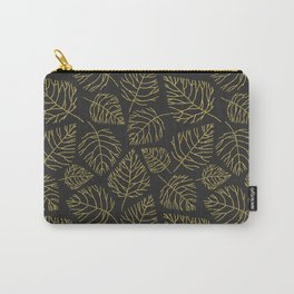 Gold Leafs Pattern Carry-All Pouch