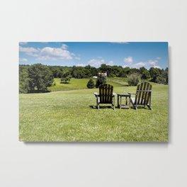 The Farmland Chairs Metal Print