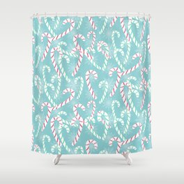 Frosty Canes Shower Curtain