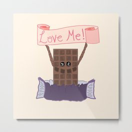 For the Love of Chocolate Metal Print